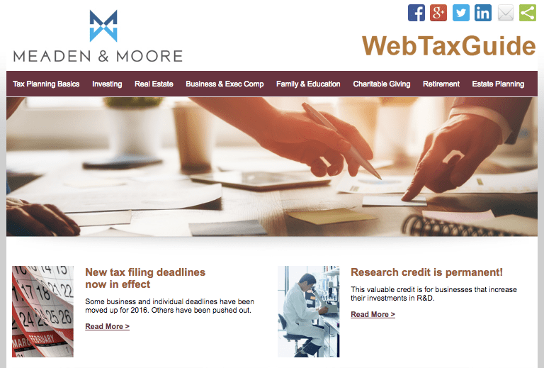 Meaden & Moore 2016-2017 Web Tax Guide